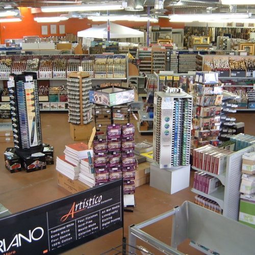Interior View of Art Supplies in Jerry's Artarama Retail Store in Tempe, AZ