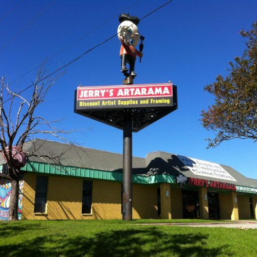 Exterior Picture of Jerry's Artarama Art Supply Store in Austin, TX