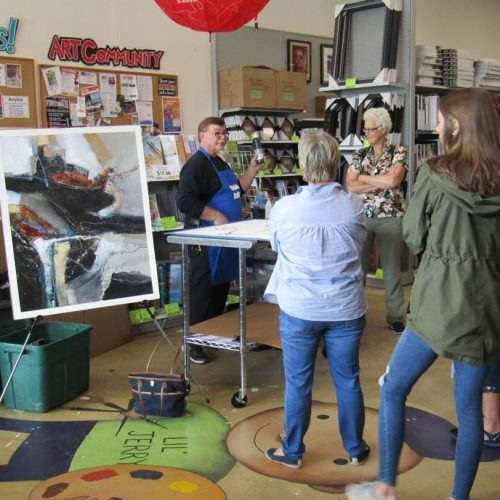 Picture of an Art Demo, Class, & Workshop at Jerry's Artarama of Raleigh, NC
