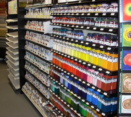 Picture of Paints in Jerry's Artarama Art Supply Store in Norwalk, CT