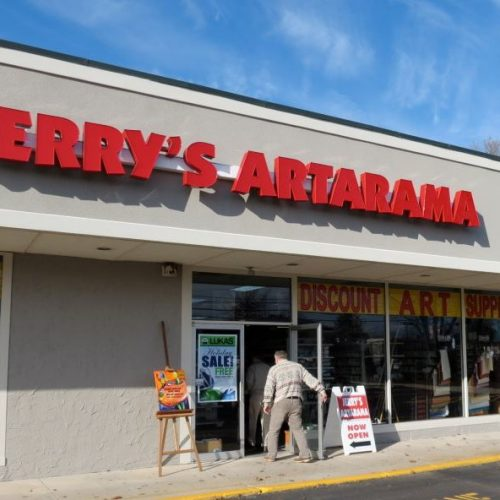 The Exterior of Jerry's Artarama Art Supply Store in Lawrenceville, NJ