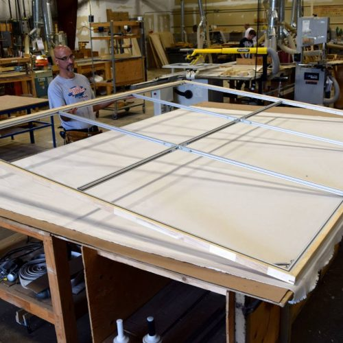 A Custom Picture Frame Being Made at Jerry's Artarama Frame Shop in Norwalk, CT