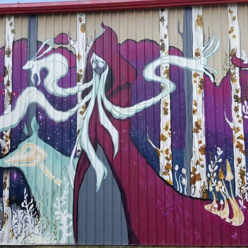 Painted Mural on the Outside of Jerry's Artarama Art Supply Store in Houston, TX