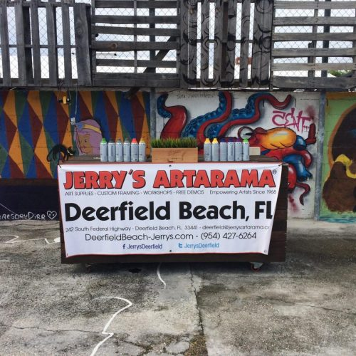 A Spray Painting Workshop at Jerry's Artarama of Deerfield Beach, FL