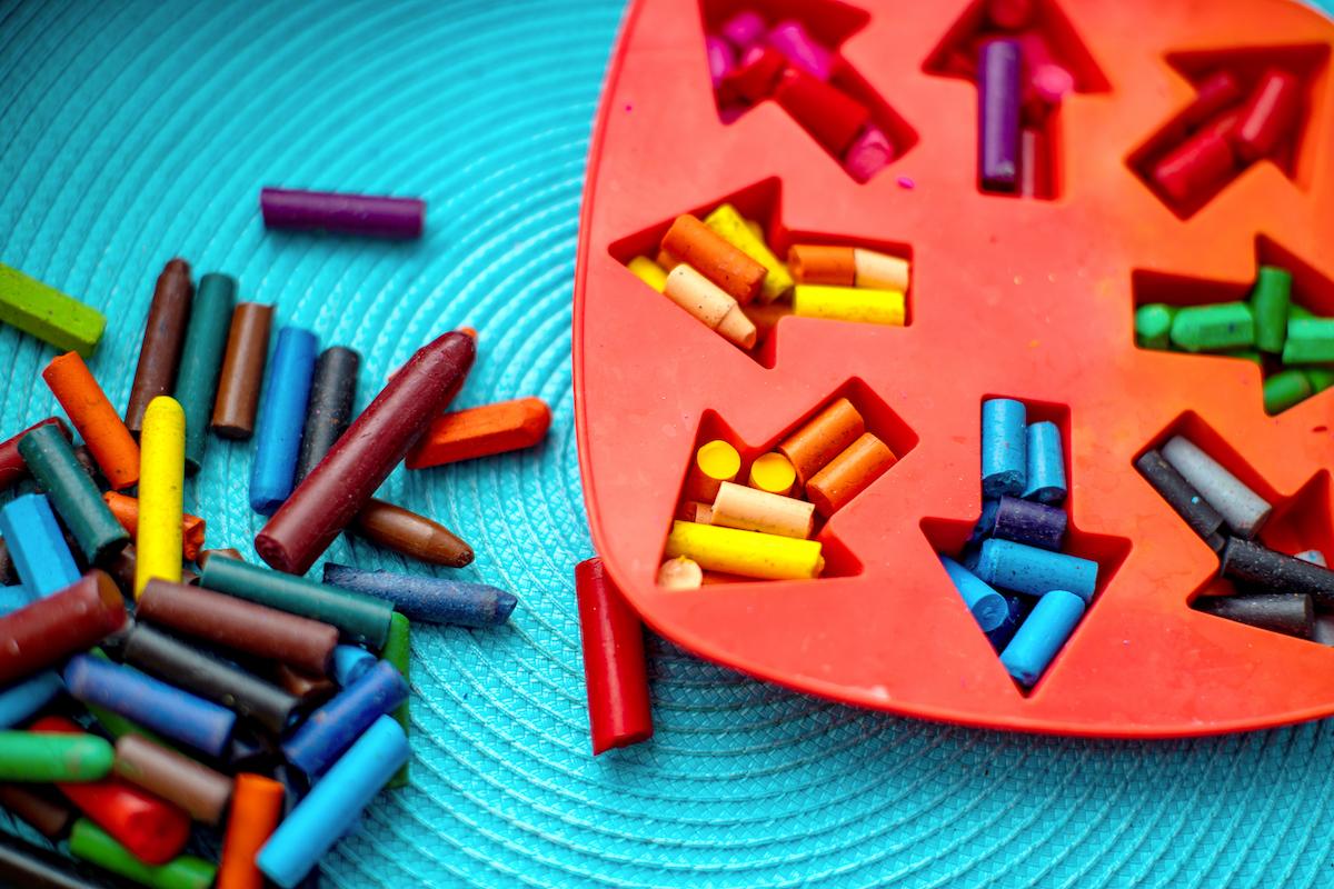 Make Heart-Shaped Crayons